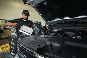 changing vehicle air filter